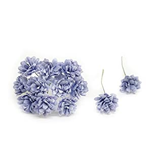 2cm Periwinkle Blue Paper Flowers Baby's Breath Artificial Flowers Fake Flowers Paper Craft Flowers Mulberry Paper Flowers, 50 Pieces 12