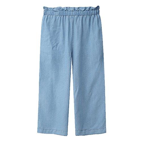 Pantalones De Mujer Pantalones Vaqueros De Pierna Recta Pantalones De Mezclilla Largos Azul Blue