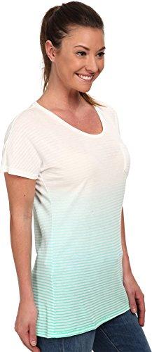 PUMA Women's Striped Tee Electric Green/Dip T-Shirt LG