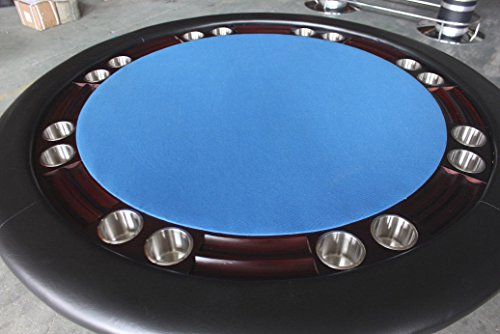 Poker table 52 inch round solid wood 8 player texas holdem for Table 52 cards