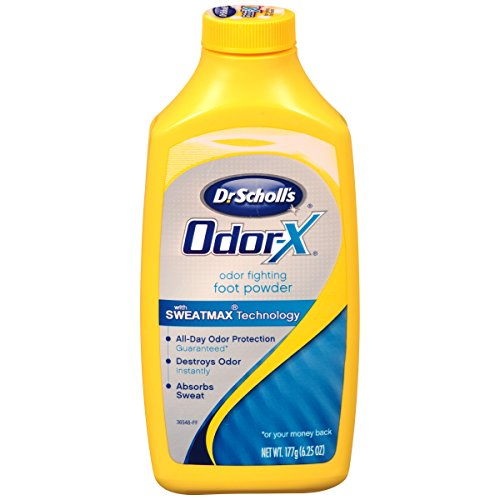 Gold Powder Bond Foot (Dr. Scholl's OdorX All Day Deod Powder. 6.25 Ounces, (Pack of 3))