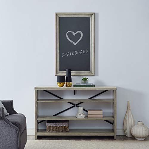 Classic Brands Sam & Jack Large Rustic Decorative Chalkboard Frame, Antique White | Great for Kitchen Décor, Weddings, Receptions, Messaging