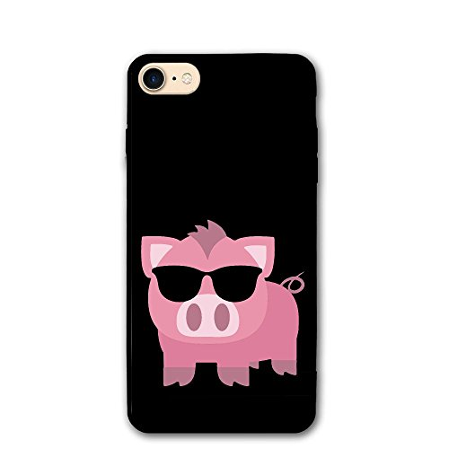 New Pink Pig With Sunglasses IPhone 8/8s Case 4.7 Inch Phone Cover Anti-scratch | - Pig With Sunglasses
