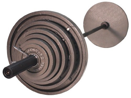 Troy USA Sports OSS-300B Gray Olympic Plates with Black Olympic Bar by USA Sports