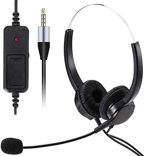 🥇 Auriculares de teléfono móvil con micrófono Cancelación de ruido y controles de llamada