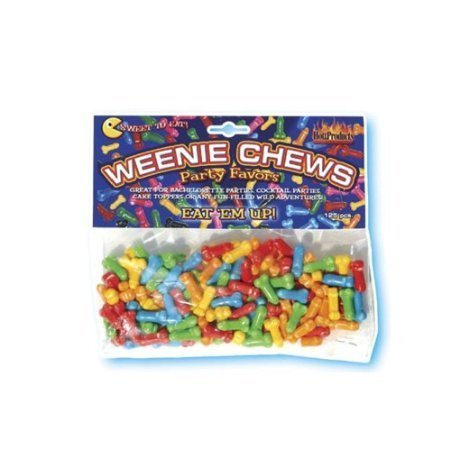 Hott Products Weenie Chews, 125-Pieces/Bag
