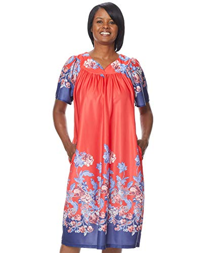 AmeriMark Lounger House Dress with Pockets for Women Muu Muu - Multi Womens Dress