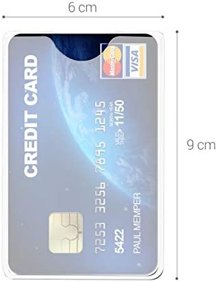 10X PVC Credit Card Holder Protect ID Card Business Card Cover Clear Frosted XDU