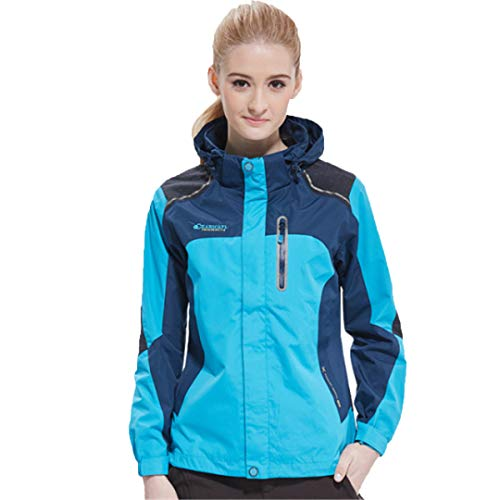 - KinYanilsn Women Autumn Softshell Breathable Jacket Outdoor Sport Waterproof Coat Hiking Climbing Jackets Moon Blue L
