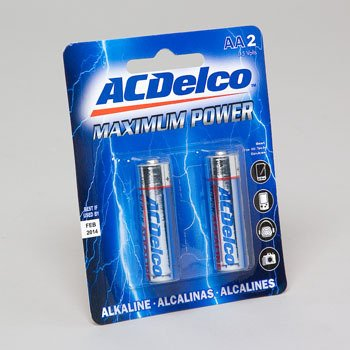 AC Delco AA Alkaline Battery, 2-Pack
