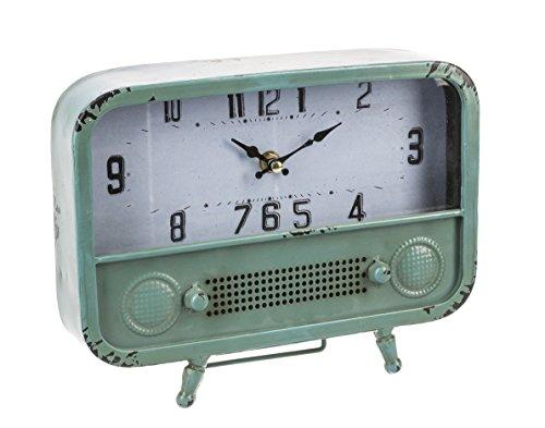 Retro Radio Design Vintage Distressed Pale Green 10 x 7.75 I