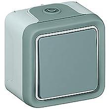 Legrand 0 697 20 interruptor de luz Gris - Interruptores de luz (Botones, Inclinación, Gris, 1,43 kg, 10 pieza(s))