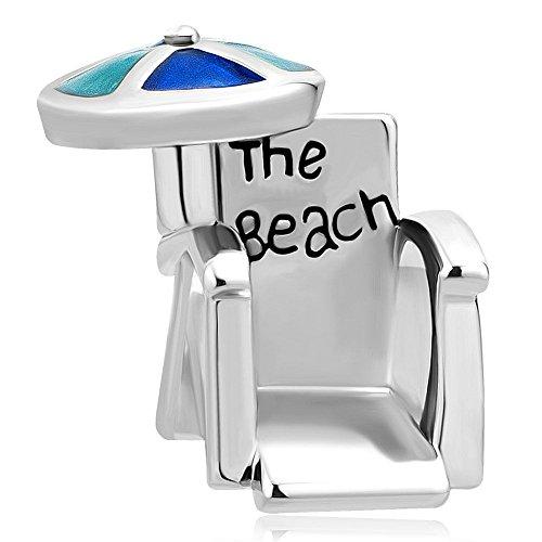 - DemiJewelry Sun Umbrella Love Travel Beach Chair Charms Beads for Bracelets