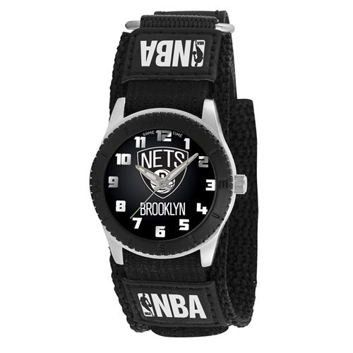 Game Time Boy's 'Rookie' Quartz Metal and Canvas Casual Watch, Color:Black (Model: NBA-ROB-BK) (Canvas Rookie)