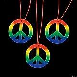Rainbow Peace Sign Hippie Necklaces (4 dz), Health Care Stuffs