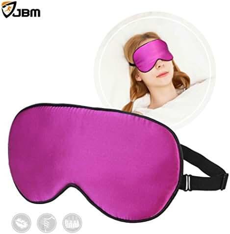JBM Breathable Soft Sleep Mask (3 Color) Natural Mulberry Silk Eye Mask / Eye Cover / Eye Pillow / Eye Bag with Adjustable Velcro Tape For Travel, Sleep, Relax, Yoga, Shiftwork