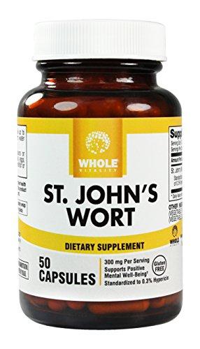 St. John's Wort 300Mg, .3% Standardized Hypericin Extract, 50 Vegetarian Capsules
