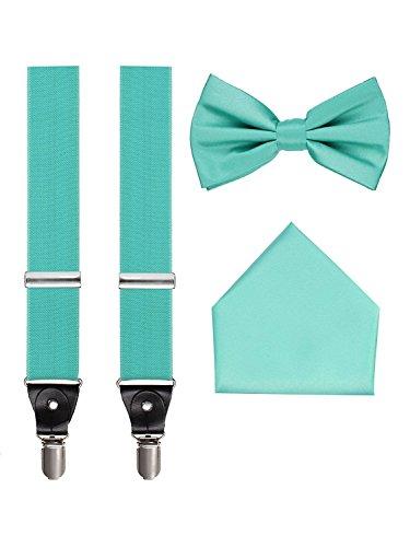 Men's 3pc Suspender Set (Turquoise) -