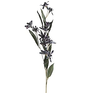 Factory Direct Craft Group of 12 Lavender and Gray Artificial Wildflower Stems for Home Decor, Crafting and Displaying 105