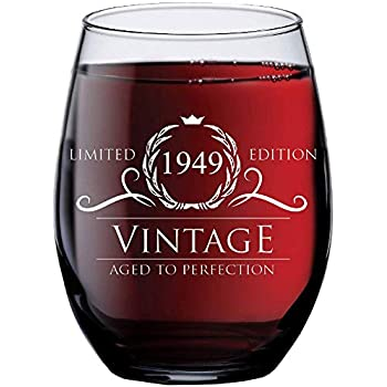 1949 70th Birthday Gifts For Women And Men Wine Glass