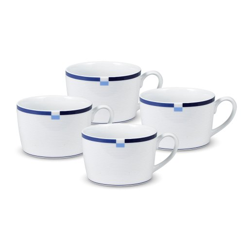 Mikasa Jet Set Blue Tea Cup (8-Ounce, Set of 4)