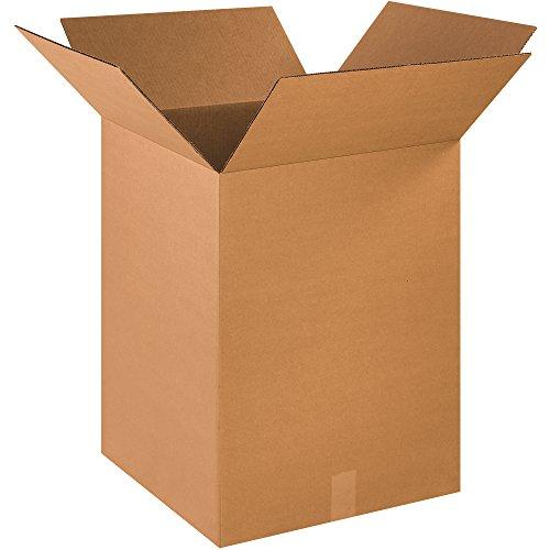 "Aviditi 181824 Single-Wall Corrugated Box, 18"" Length x 18"" Width x 24"" Height, Kraft (Bundle of 15) from Aviditi"