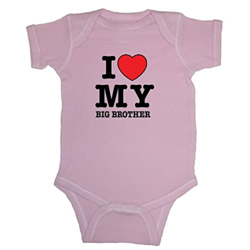 unisex baby i love my big brother red heart bodysuit organic pink 12 months