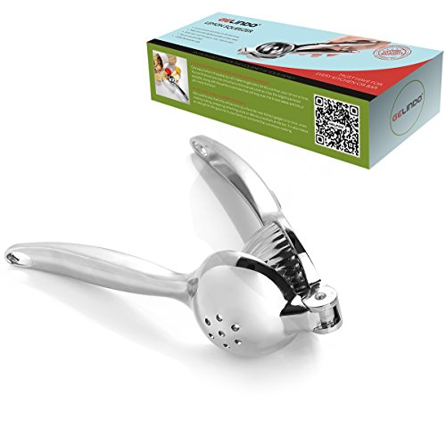 Gelindo Single Press Lemon Squeezer - Heavy Duty - Easy To Use - Large Bowl, Silver by Gelindo (Image #4)