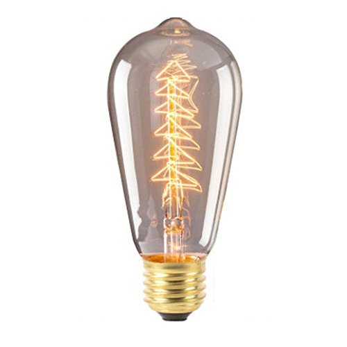 Christmas Candlelight Bulbs - Yezijin Candle Lights, 220V-240V Edison Bulb E27 Retro Lamp Vintage Light Bulb Incande Christmas (C)