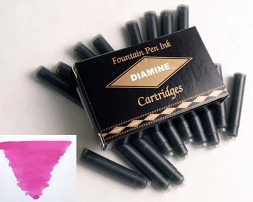 Diamine Refills Claret Pack of 18 Fountain Pen Cartridge - DM-8006