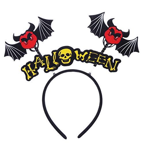 Amosfun Halloween Headband Skull Devil Hair Hoop Cosplay Costume Bopper Headband Hair Accessory for Halloween Party Favors Photography Props]()