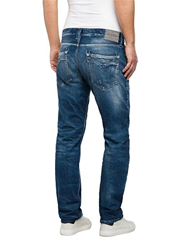 Straight Replay Destroyed light 9 Blue Uomo Blu Jeans Newbill EZqwZR