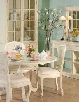 Furniture 247 Nouvelle Cream Round Dining Table Color White Amazon Co Uk Kitchen Home