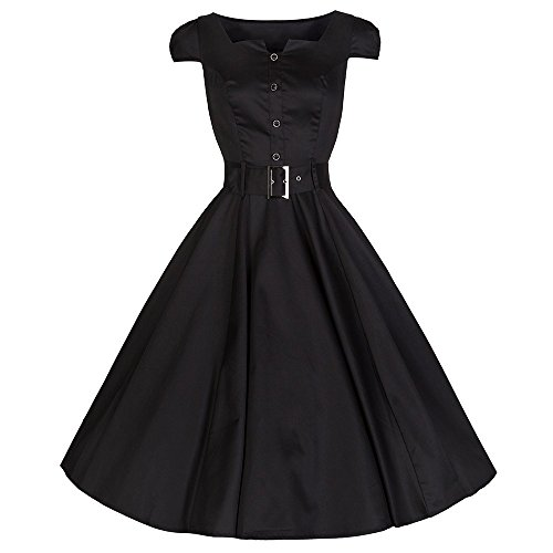 50s belted dress - 1