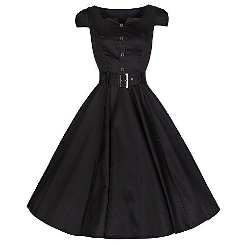 Buy black 1950s swing dress - 3