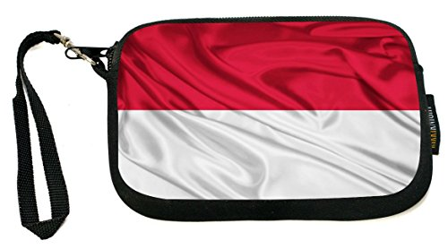 Rikki Knight Indonesia Flag - Neoprene Clutch Wristlet Coin Purse with Safety Closure - Indonesia Coin