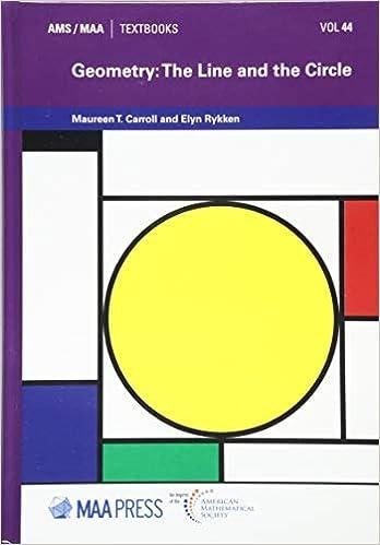 Amazon com: Geometry: The Line and the Circle (AMS/MAA