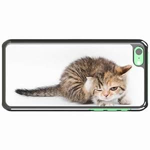 iPhone 5C Black Hardshell Case kitten playful spotted Desin Images Protector Back Cover
