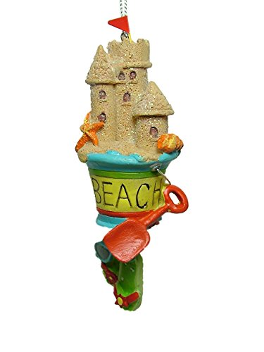 Beach Pail with Sand Castle Ornament