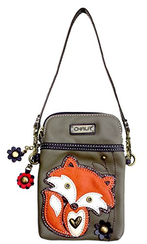 Chala Crossbody Cell Phone Purse-Women PU Leather Multicolor Handbag with Adjustable Strap (Chala Fox)