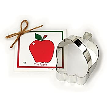 Apple Cookie and Fondant Cutter - Ann Clark - 4.1 Inches - US Tin Plated Steel