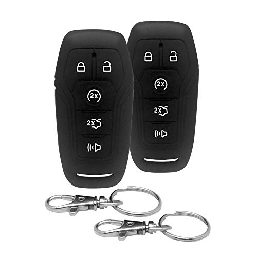 Good Life+Style 2 Pc Ford Lincoln Smart Key Fob Covers for Keyless Remote with Snap Hooks | Set of 2 Ford Lincoln Key Fob Protector Cases for 2015 2016 2017 Edge Explorer F150 Fusion Mustang MKX MKZ - Life Lincoln Professional