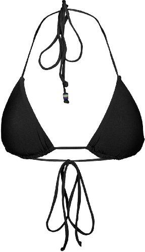 Hurley Juniors Little Black Bikini Triangle Top (Small , Black)