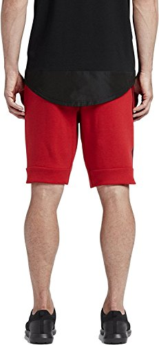 Nike M NSW TCH FLC Pantalon Court pour Homme Rouge (Univ Red Htr / University Red / Black) 2nXK7kwM