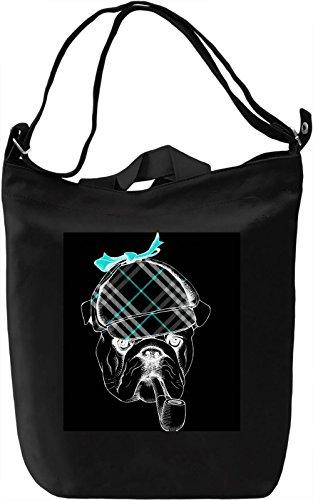 Dog Hunter Borsa Giornaliera Canvas Canvas Day Bag| 100% Premium Cotton Canvas| DTG Printing|