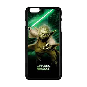 Star Wars Master Yoda Pattern Fashion Design Generic Case For Black iphone 6 plus 5.5 inches Cell Phones Case TOOT0 Case
