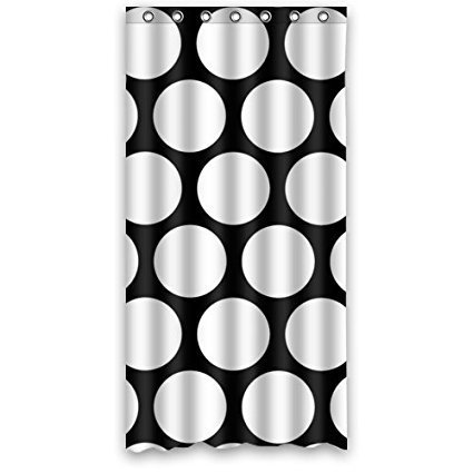 Black And White Polka Dot Shower Curtain 100 Polyester