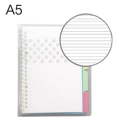Ya Jin A5 PP traslúcida cuaderno de espiral con páginas de ...