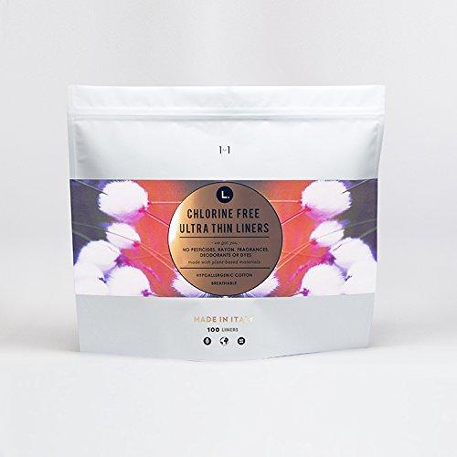 L. Organic Cotton, Chlorine Free, Ultra Thin Liners (100 (Organic Cotton Liner)