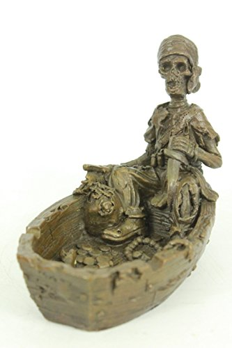 Art Deco Figural - Handmade European Bronze Sculpture Nude Lady Skeletal Figural On Boat Ashtray Figurine Figure Sale Bronze Statue -JPXNRQ-028-Decor Collectible Gift